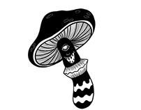 Mushroom sticker design