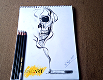 Smoking Kills Charcoal Pencil Drawing | By #SyedArt