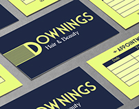 Downings - Hair Salon Rebrand