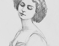 Lina Cavalieri Sketch of a Diva