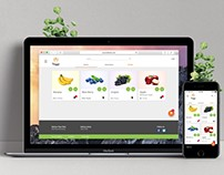 Grocery Store E-Commerce Website in Material Design