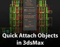 Quick attach objects in 3dsMax