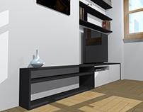 Conception de mobilier sur mesure / Meuble TV