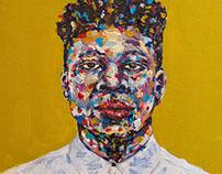 Mick Jenkins Acrylic Portrait