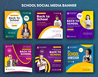 Social Media Back To School | Ads Post Template