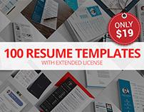 100 Resume Templates