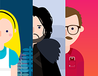 MOVIE CHARACTERS ILLUSTRATIONS