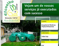 Flyer - DF Coelho Ambiental: Veja um de nossos serviços