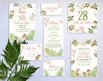 Free Floral Wedding Templates Suite