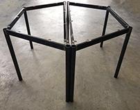 Metal base - Metal table- Dining table by Inox G-art