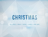 26 Polygon Christmas Backgrounds - $5