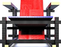Modélisation 3D - L1 | La Chaise Rouge & Bleu