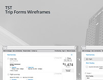 TST Trip Forms Wireframes