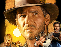 Editorial Illustration: The Films of Harrison Ford