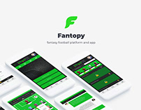 Web & UX UI design - Fantopy fantasy football