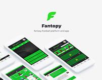 Web & UX UI design - Fantopy fantasy football