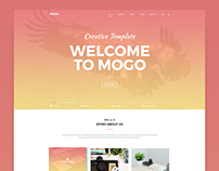 MoGo – FREE One Page PSD Template