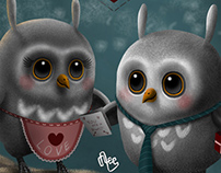 "Valentines Card: ""Owl be yours!"""