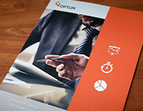 Optum infographic brochure/folder