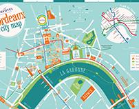 Plan de Bordeaux pour Novotel