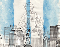 9/11 sketchbook drawing