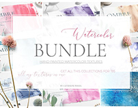 Watercolor Textures Bundle +Freebie