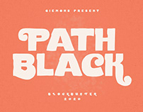 Path Black Typeface