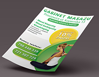 Massage room - leaflet A6 Vertical