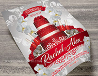 Red and White Wedding – Free PSD Flyer Template