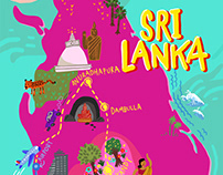 Sri Lanka Map | 'Motion' Munich Zine.