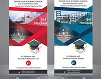 Standee (Roll Up) Designs for Foundation University ISB