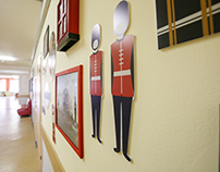 English Corridor in Russian School