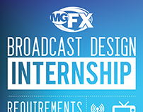 Broadcast Design Internship Poster for MGFX