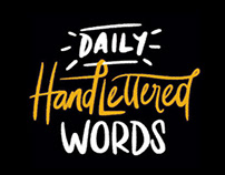 Daily Hand Lettered Words