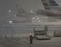 Photo Story | Snowstorm hits Narita airport