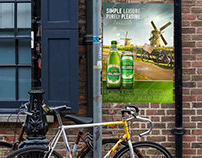 Bike-Inspired Hollandia beer POSm