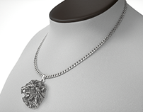 Jewelry product rendered in V-Ray