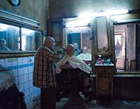 Barber shop in gamalia, Egypt