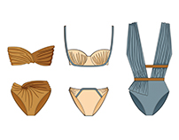 Capsule collection: Draped swimsuits