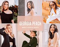 Free Georgia Peach Mobile & Desktop Lightroom Presets