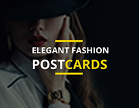ELEGANT FASHION POSTCARDS