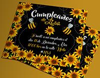 Invitación cumpleaños| Birthday invitation