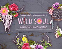 Wild soul - bohemian watercolor