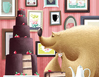 The bear and a cake