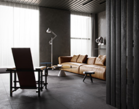 Modern Dark Apartment CGI