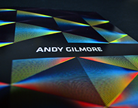 Andy Gilmore's exhibition identity
