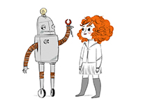 A girl and her robot