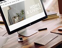 Webpage design for Home & Living page for EPIK-SHOP