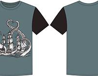 Fashion flat design of T shirt