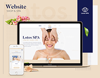 Web design for Lotos SPA & Shop